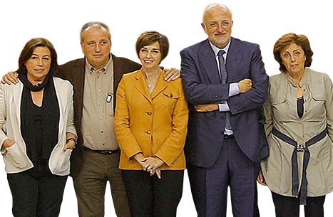 Juan Roig, the company's president, with his wife and Mercadona's vice-president Hortensia Herrero, and siblings Fernando, Trinidad and Amparo.