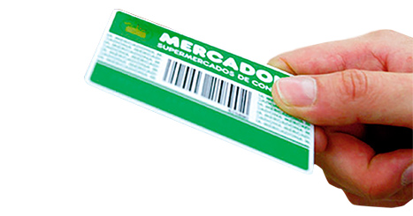 Picture of Mercadona's first credit card.