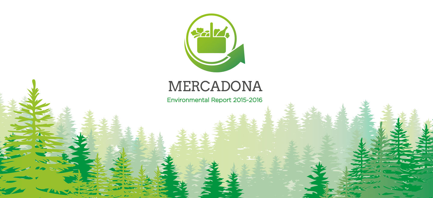 Front of Mercadona's new environmental report.