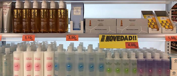 Ampollas faciales Prevent Age Skin con proteoglicanos en un lineal de Mercadona
