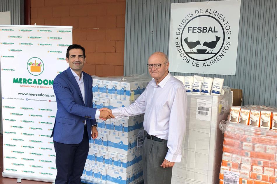 Mercadona dona alimentos al Banco de Alimentos de Alica - Mercadona