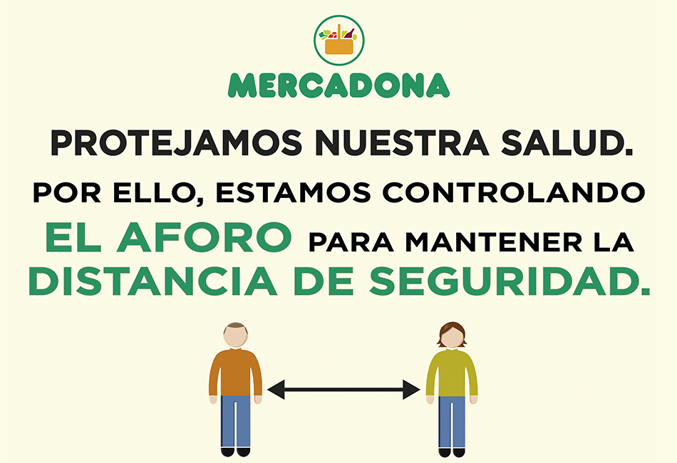 Distancia de seguridad Mercadona