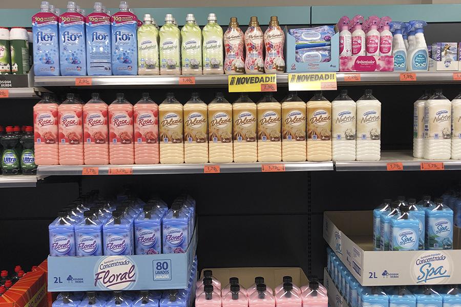 Lineal de Mercadona donde se vende el nuevo Perfumador Ropa Bosque Verde